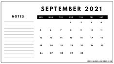 September 2021 calendar with note printable #SeptemberCalendar #September2021Calendar #Calendar #2021Calendar #SeptemberWallpaper #FloralCalendar #SeptemberFloral #Holidays August Month Calendar, September Calendar Printable, 2021 Calendar, Monthly Planner Template, Weekly Planner Printable, Some Words, Printables, Holidays, Notes