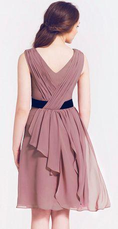 draped back dress---cute for bridesmaid