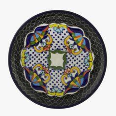 Serving plate - Blackie / De la reina - Mexican pottery Talavera  #hardtofind. #home #patterns #plate #dinnerware #mexican_pottery #pottery #Talavera #black