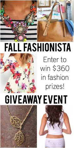 Enter to win the second giveaway to enter to win an extra $360 in fashion items!