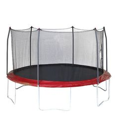Skywalker Trampolines 15 ft Round Trampoline With Enclosure Red - Outdoor Games And Toys, Trampolines at Academy Sports