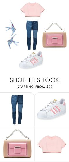 """""""Untitled #6085"""" by bellagioia ❤ liked on Polyvore featuring adidas, Balenciaga and Topshop"""