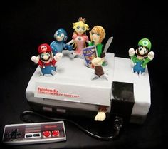 8-bit NES cake! And other geeky cakes on Cake Wrecks' Sunday Sweets.