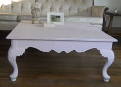 Pink Shabby Chic Coffee Table Vintage by Shabbychicantiques17, $300.00