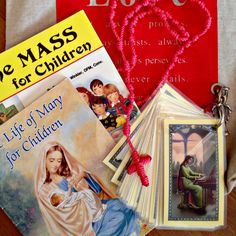 Mass Bag - Try making the Mass bag with items relating to that Sunday's Gospel or upcoming Feasts of Saints