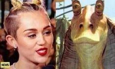 Jar Jar Binks: | 22 Things Miley Cyrus Looked Like At The 2013 VMAs