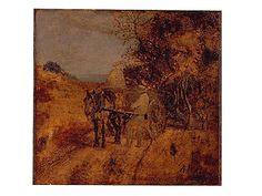 """""""Mending the Harness,"""" Albert Pinkham Ryder, oil on canvas mounted on wood, 7 5/8 X 7 7/8"""", Hirshhorn Museum and Sculpture Garden Collection."""