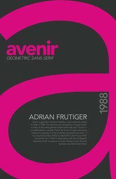Adrian Frutiger created Avenir in 1988