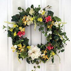 Summer Garden Breeze Spring Wreath Decorative Door Wreath Wreaths For Door http://www.amazon.com/dp/B01AYAM7VK/ref=cm_sw_r_pi_dp_MkMOwb1146E80