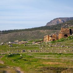 Remains of ancient city of #Hierapolis near #Pamukkale in #Turkey