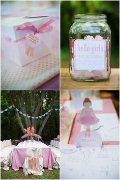 Ballerina Birthday Party - Kara's Party Ideas - The Place for All Things Party Ballerina Birthday Parties, Ballerina Party, 3rd Birthday Parties, Birthday Ideas, Party Fiesta, Party Entertainment, Party Planning, Party Time, Party Ideas