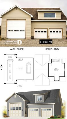 99 Best Garage Plans, Garage with apartment & Shed plans & designs Model House Plans With Rv Garages Attached Html on