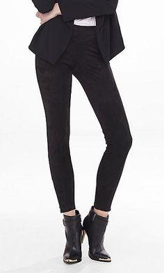 faux suede ankle zip legging