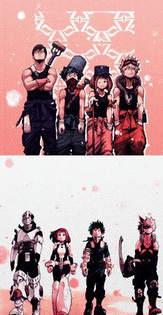 Characters: Tenya Iida, Midoriya Izuku, Uraraka Ochako, Katsuki Bakugou