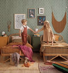 Here, we take inspiration from three classic fairy tales to show you how to create a kids' bedroom or nursery that fosters their little imaginations but can be easily updated and restyled as they grow. Boho Nursery, Nursery Neutral, Nursery Decor, Fairy Bedroom, Fairy Tales For Kids, Toddler Rooms, Baby Rooms, Kids Room Design, Bedroom Vintage