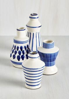 Jovial Jardiniere Vase Set. Your bouquets will be a joy to behold when they're showcased in this set of ceramic vases! #multi #modcloth