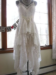 Off White and Ivory alternative bride tattered by LilyWhitepad