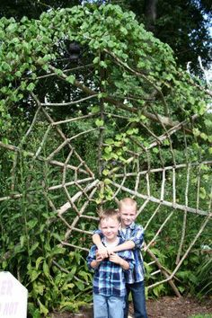 I want this in my yard! Love Spiderwebs! Will take the Cute boys too! LOL Love yuns, Brighton and Zacky!