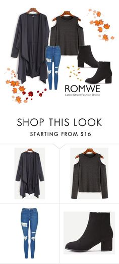 """Romwe 23"" by zerina913 ❤ liked on Polyvore featuring Topshop and romwe"