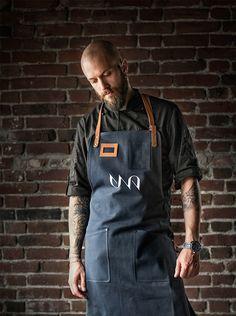 Una Kitchen & Microbrewery, CI/Branding on Behance Barista, Visual Identity, Brand Identity, Pub Logo, Cafe Uniform, Apron Designs, Business Portrait, Best Beer, Herschel Heritage Backpack
