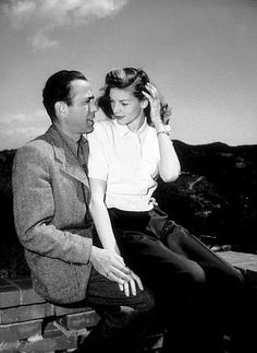 Humphrey Bogart and Lauren Bacall at home, circa 1949.
