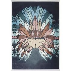 Living Space Indian Chief Canvas Multicoloured