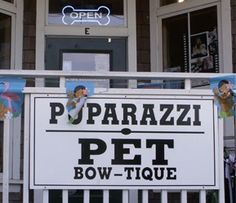 Another cute name for spa. Also could say Puparazzi S'paw or Paw-Tique