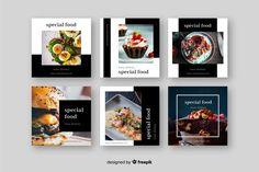 Instagram Design, Instagram Frame, Social Media Banner, Social Media Template, Social Media Design, Feeds Instagram, Instagram Posts, Image F, Food Menu Design
