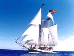 A Windjammer cruise sailing vacation aboard the tall ship Liberty Clipper is a cruise aboard an historic tall ship. 125' long ship. Awesome adventure!