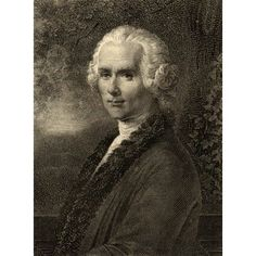Jean-Jacques Rousseau 1712-1778 Swiss Philosopher Photo-Etching From An Old Print From The Book Lady JacksonS Works Iii The Old Rgime I Court Salons And Theatres Published London 1899 Canvas Art - K