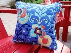 amy butler quilted pillow 2010
