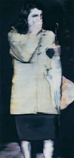 Gerhard Richter, Frau mit Schirm (Woman with Umbrella) 1964, 160 cm x 95 cm, Catalogue Raisonné: 29, Oil on canvas