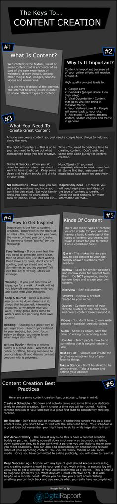 Web content is the textual, visual or aural content that is encountered as part of the user experience on website's. It may include, among other things: text, images, sounds, videos and animations.It is the very lifeblood of the internet.  The internet basically exists in order to share different types of content. http://www.digital-rapport.com/the-keys-to-content-creation/