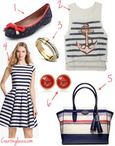 Nautical Style from Creating Laura