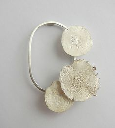 Andra Lupu - crushed  brooch - 925 silver - 2015: