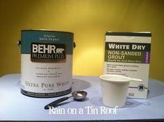 How to Make Chalk Paint and Results via RainonaTinRoof.com #chalkpaint #diy