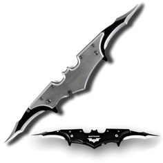 If you liked the Batarang Knife Thrower Set from a while back, you'll definitely want to check out this Batman Twin Blade Batarang Pocket Knife. Available in a variety of colors (black, silver, red, pink, and purple), these Bataran