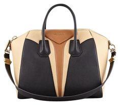 d143df885c0 Givenchy Antigona Medium Triangle Panel Multi Black Leather Satchel 41% off  retail