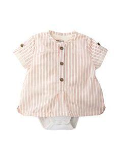 Newborn Baby Boy's 2-in-1 Bodysuit-Shirt  - vertbaudet enfant