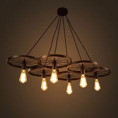 Warehouse of Tiffany Nathaniel 6-light Black 41-inch Edison Chandelier with Bulbs (6-light Black 41-inch Edison Chandelier) (Metal)