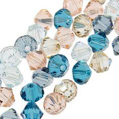 5328 4mm Swarovski Elements Crystal Mix - Cloud - SERENE,...and I luuuuurve blue....