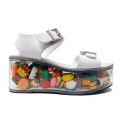 Crazy Shoe of the Day: Vegan Flatforms With Kawaii Toys in the Sole