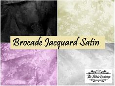 Brocade Jacquard Satin 60 Inch  The subtle beauty of the floral pattern stitched into this fabric grows more apparent the closer you look. The fabric has a slight shine, but the pattern is stitched with a matte thread producing a very unique effect as it moves through the light.  Visit: http://thefabricexchange.com/jacquard-glossy-satin/  SHOP NOW!!!  #thefabricexchange #Fabric #satin #Brocade #floral #jacquard #shine #beauty #decor #creative #design #luxurious
