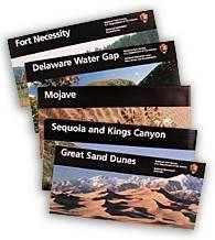 National Park Service brochures Design by  Massimo Vignelli using Unigrid design system