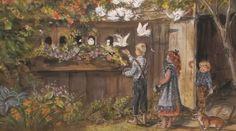 Tasha Tudor - illustration of her doves