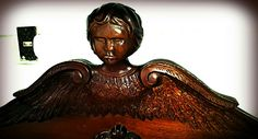 Detail, headboard. Wooden Doors, Costa Rica, Wood Working, Statue, Detail, Woodworking, Wood Crafts, Carpentry, Sculptures