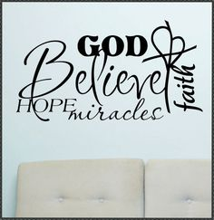 Vinyl Wall Lettering Words Quotes Religious by WallsThatTalk, $13.00