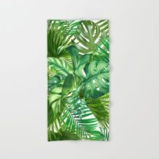 green tropic  Hand & Bath Towel