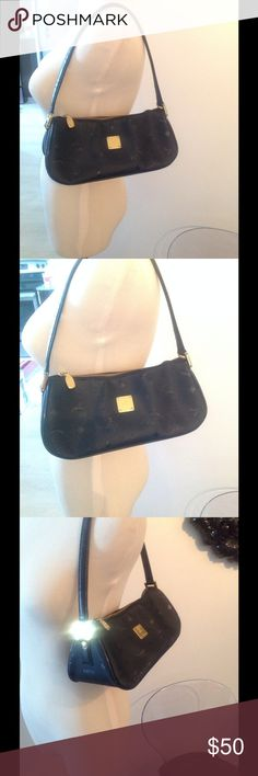 VINTAGE MINI MCM. AUTHENTIC Vintage black MCM mini have fun small and compact for on the go... MCM Bags Mini Bags