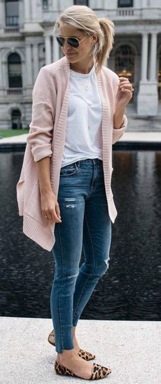 #fall #outfits women's pink sweater #casualwinteroutfit
